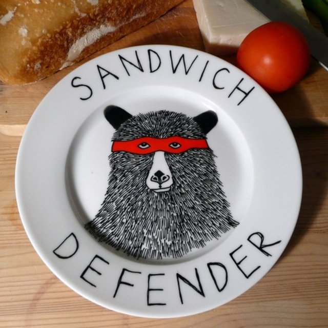 Sandwich Defender Plate by JimBob Art x Wolf & Badger