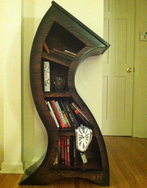 Melting Bookcase