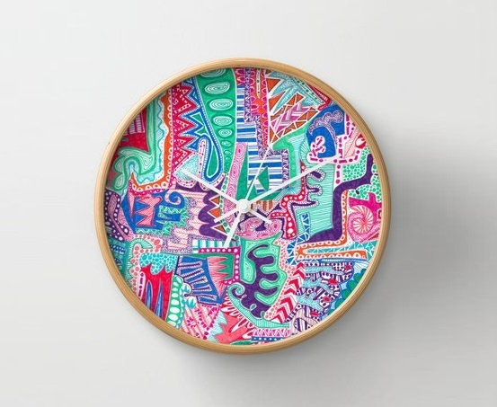 Actions And Reactions Wall Clock by Laura Maxwell