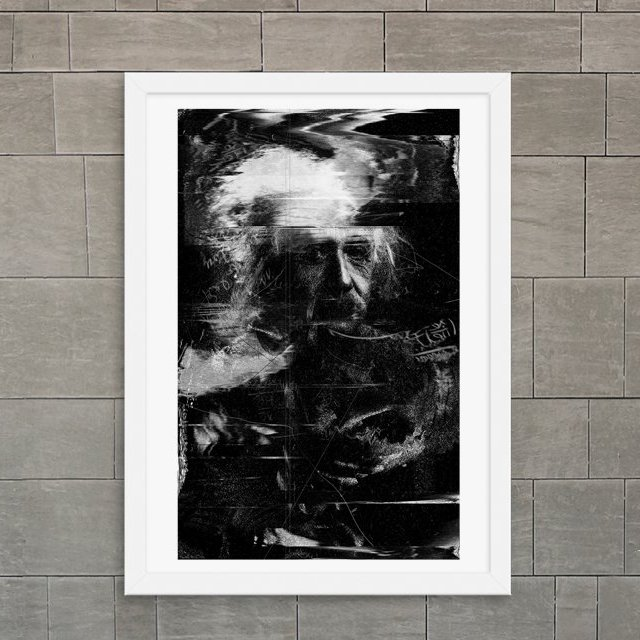 Albert Einstein Print by Nicebleed