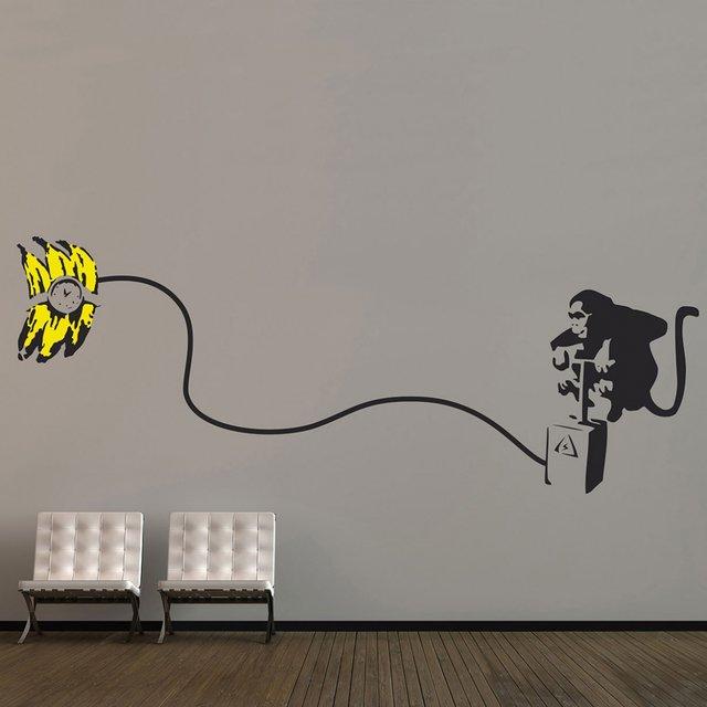 Banksy Monkey Bomb Sticker