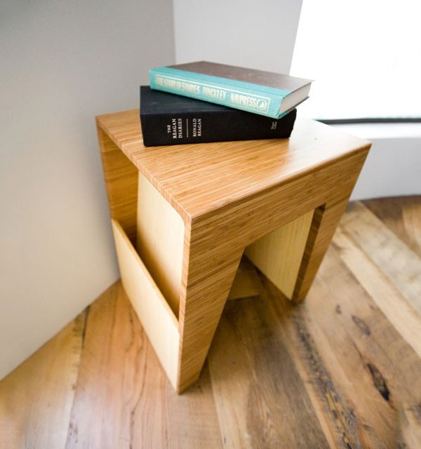 Hollow End Table by Brave Space Design
