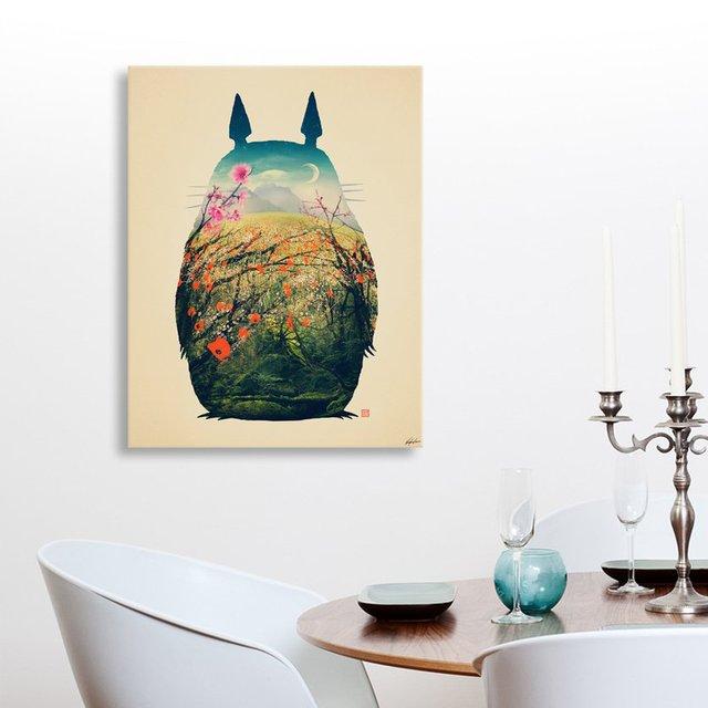 """Tonari No Totoro"" Canvas Print by Victor Vercesi"