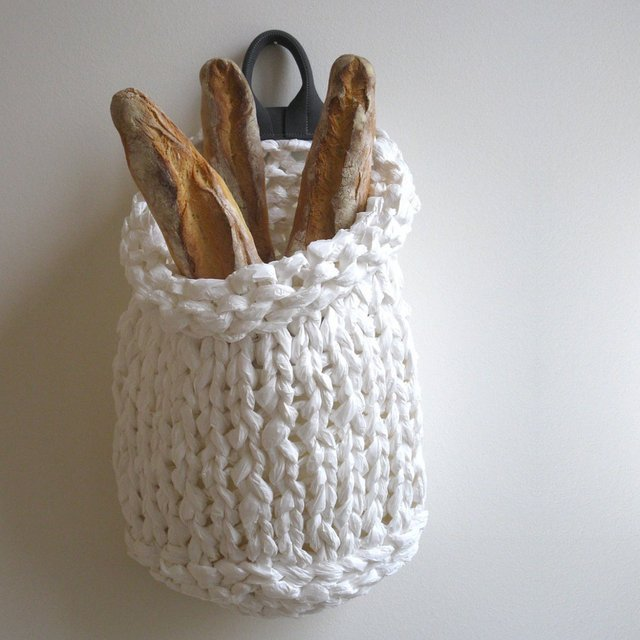 Trina Knit Hanging Basket by Pianoprimo