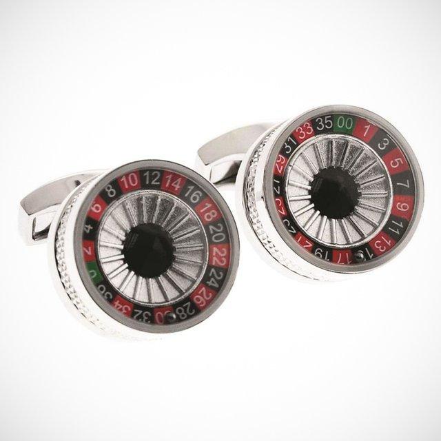 Russian Roulette Cufflinks by Tateossian