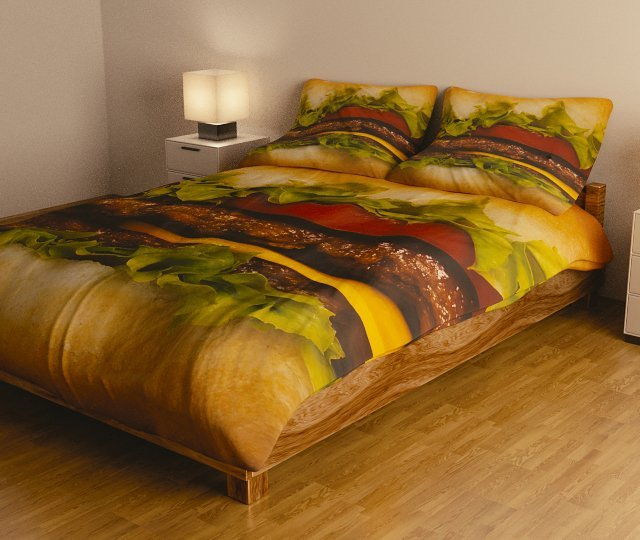 Hamburger Bedding by Emotional Rainbows