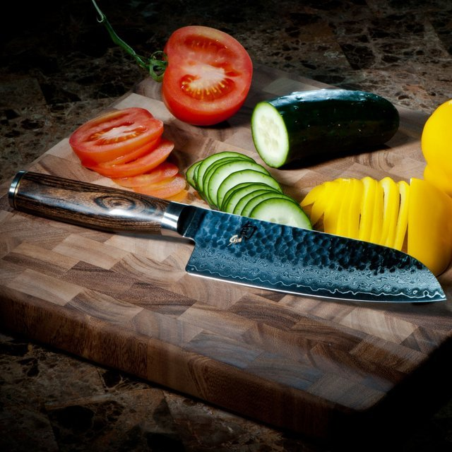Shun Premier Hollow Edge Santoku Knife