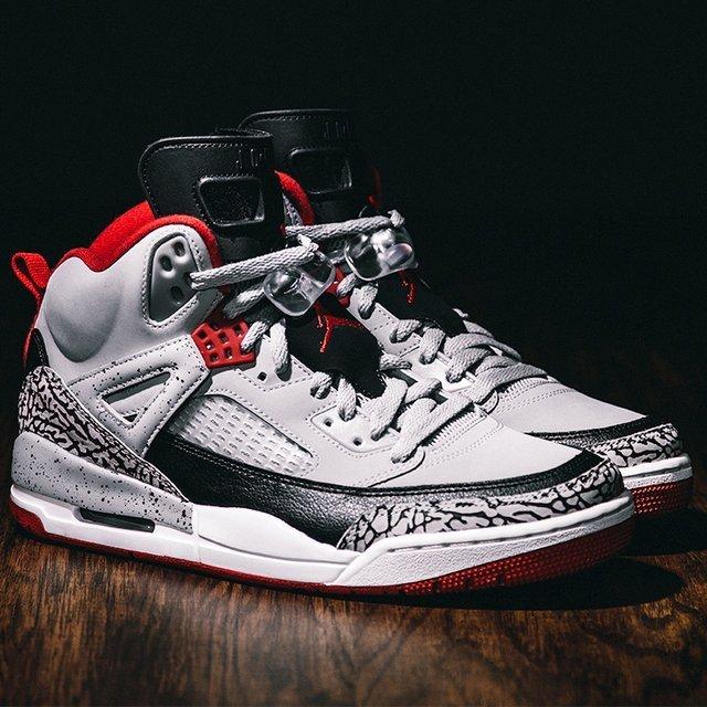 Wolf Grey Jordan Spizike Sneakers