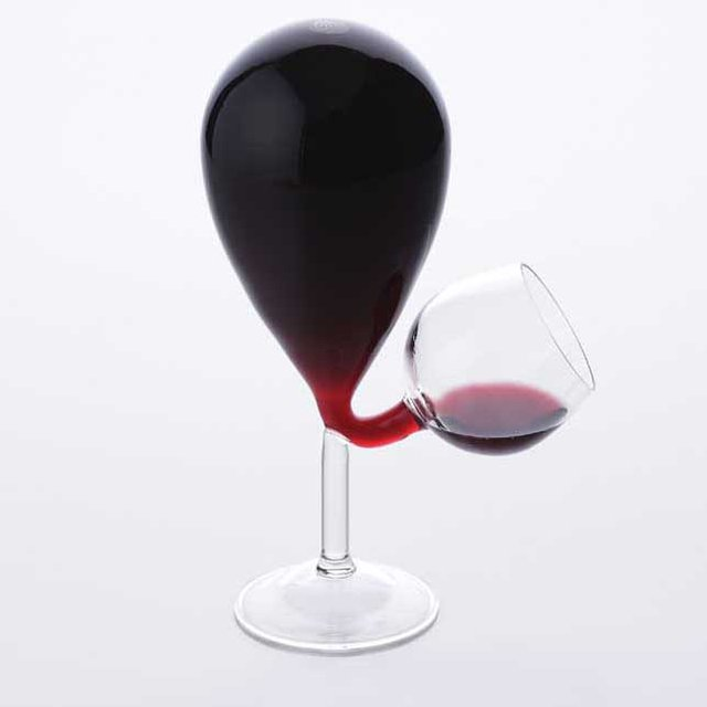 Glass Tank Wine Glass