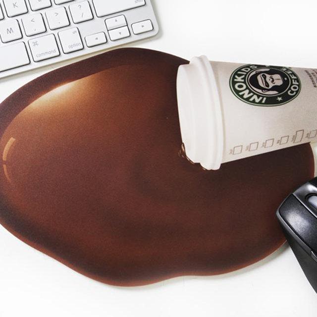 Spilt Coffee Mouse Pad