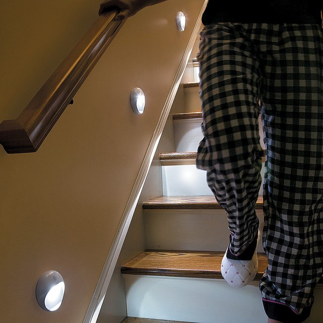 Lighting On Stairs: PathLights Wireless LED Stair Lights » Petagadget