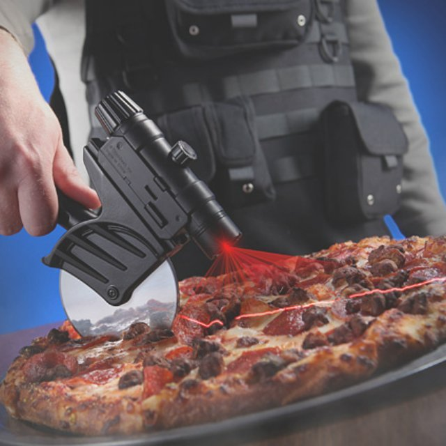 Laser-Guided Pizza Cutter