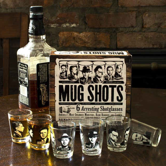 Mug Shots Famous Gangster Shot Glasses