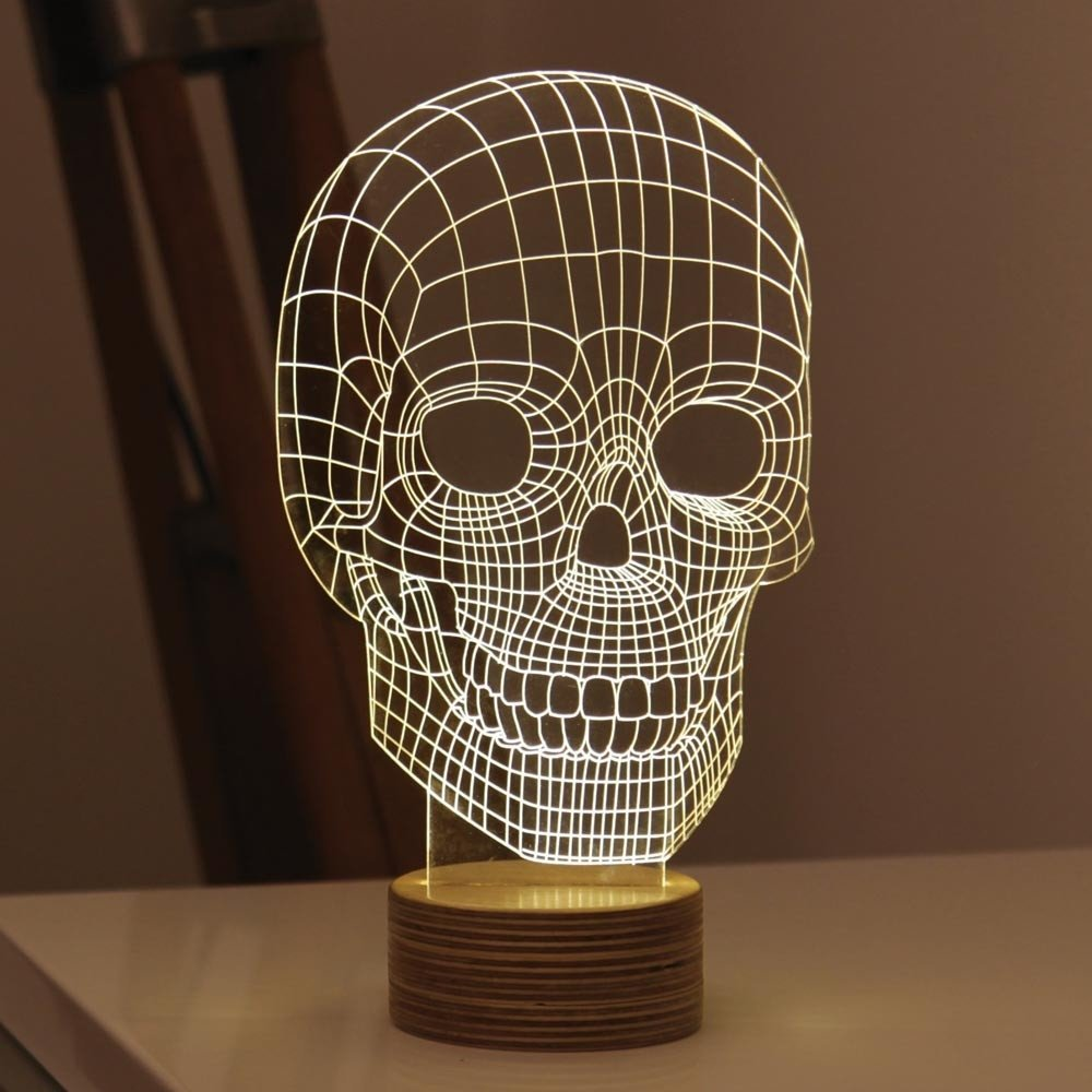 Skull Led Table Lamp 187 Petagadget