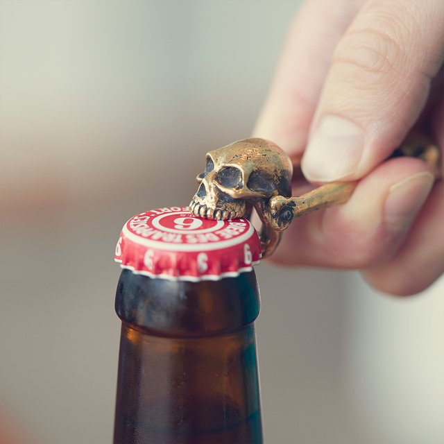 Bronze Skull Bottle Opener by Jac Zagoory