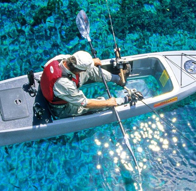 Caribe Clear Bottom Fishing Kayak