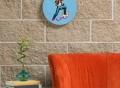 Kickflip Round Wall Clock