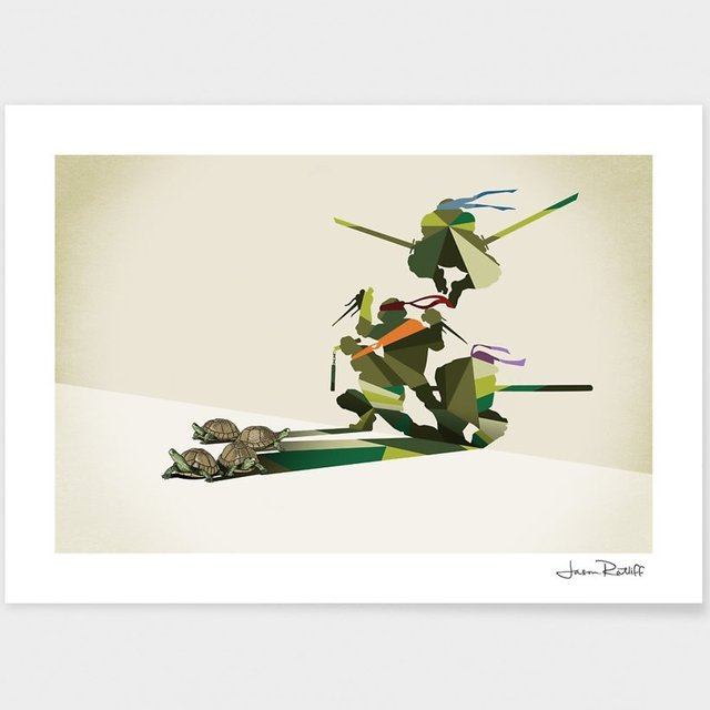 Walking Shadow Turtles Print by Jason Ratliff