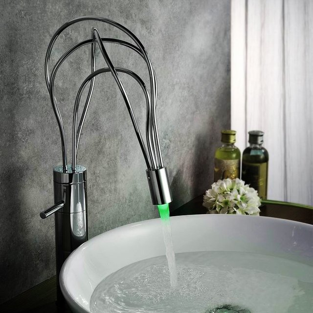 Color Changing LED Vessel Faucet