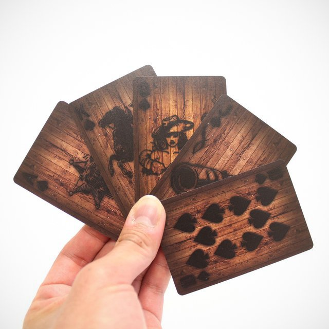 Wood Deck of Cards