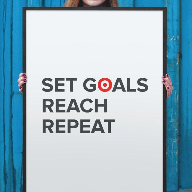 Set Goals. Reach. Repeat. Poster
