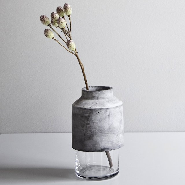 Willmann Glass & Concrete Vase