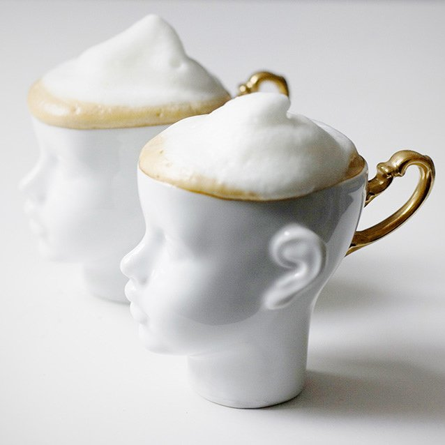 Doll Face Cup & Saucer Set