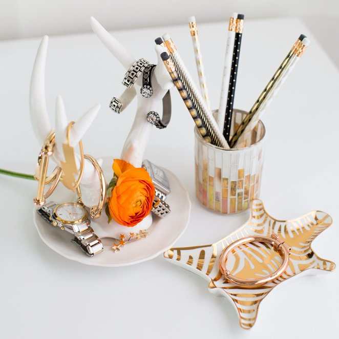 Metallic Porcelain Zebra Dish