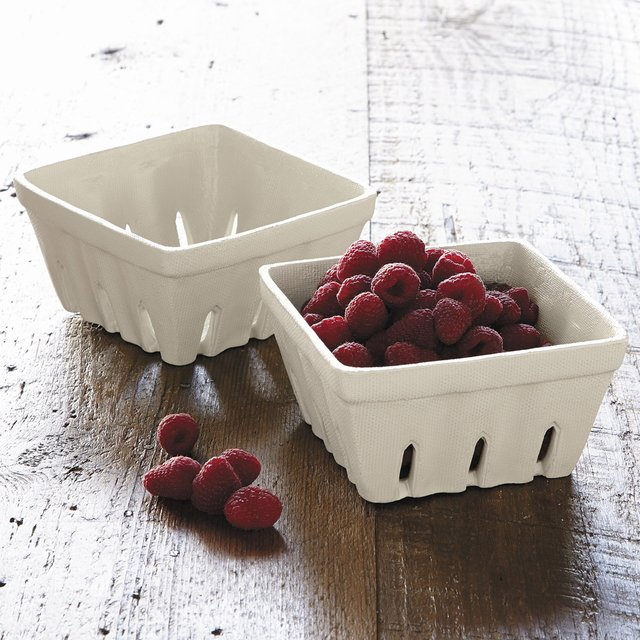 Stoneware Berry Basket