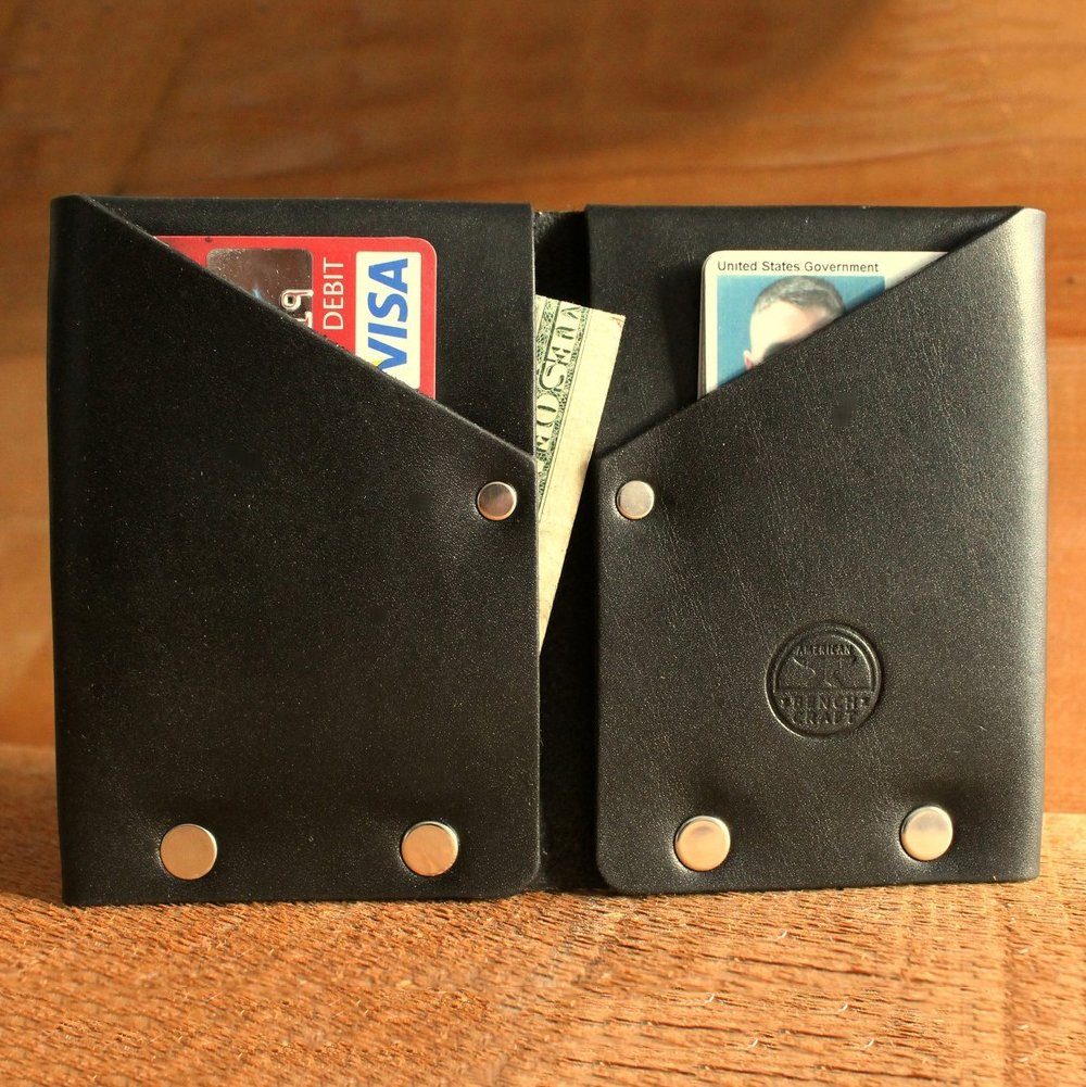 Hammer Riveted Leather Wallet by American Bench Craft