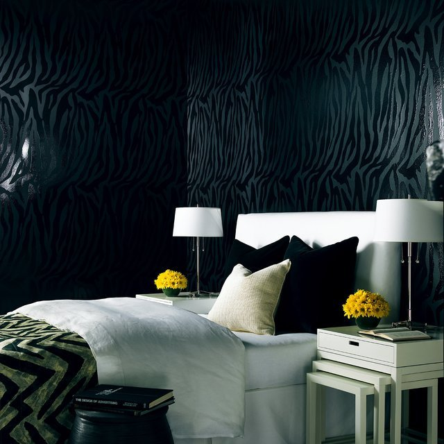 Zebra Chic Stripe Wallpaper