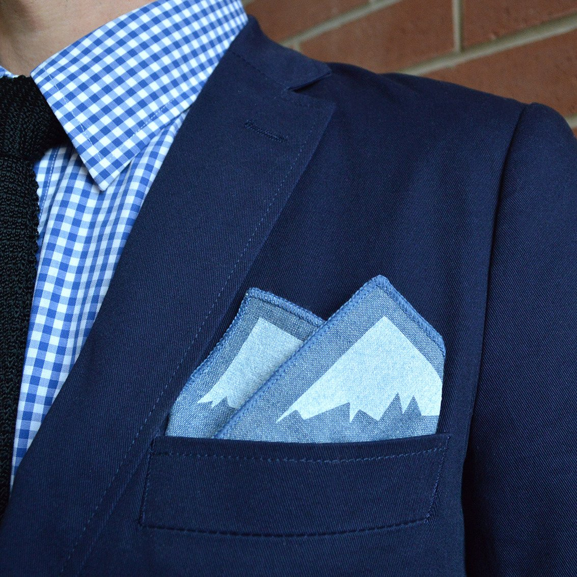 Outside/Inside Pocket Square