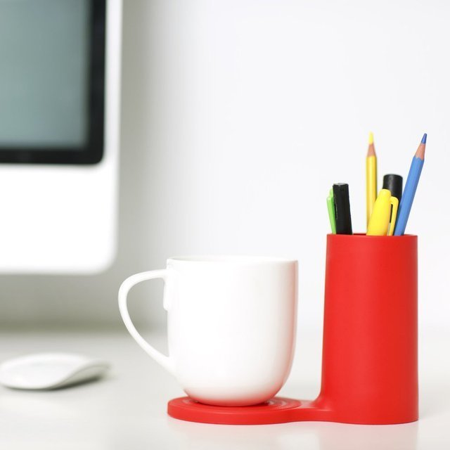 Jot Desk Coaster and Pen Holder