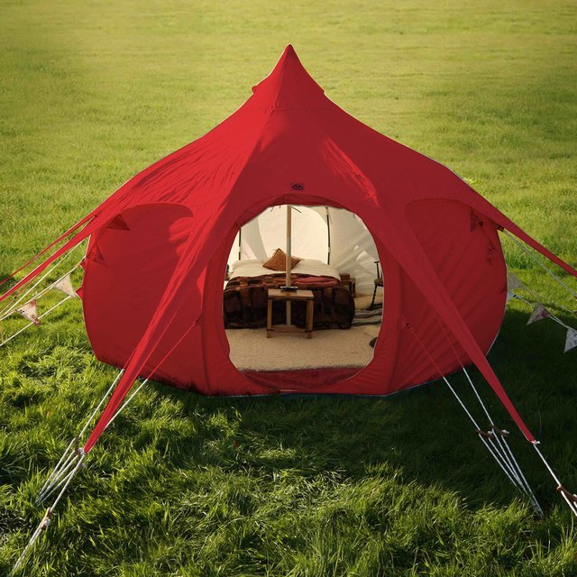 Red Outback Tent by Lotus Belle