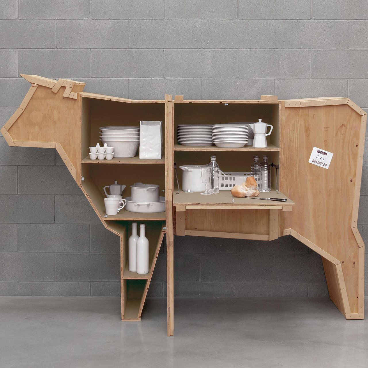 Seletti Sending Animal Cow Shelf