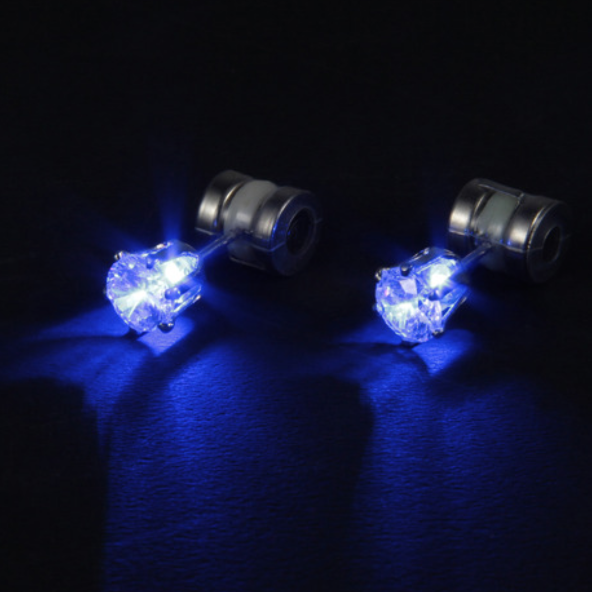Flashing Crystal LED Earrings by Night Ice