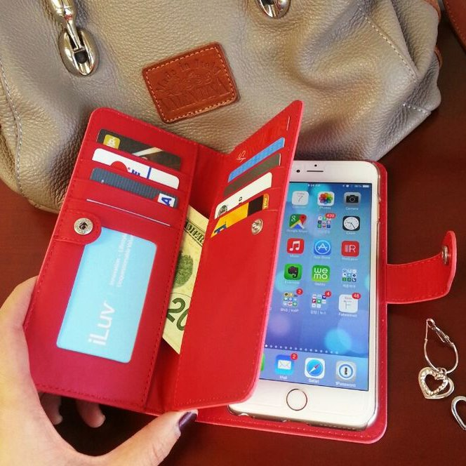 Leather Wallet Case for iPhone 6 Plus by iLuv