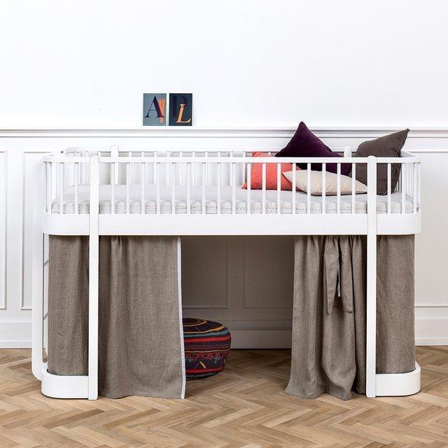 Luxury Low Loft Bed in White