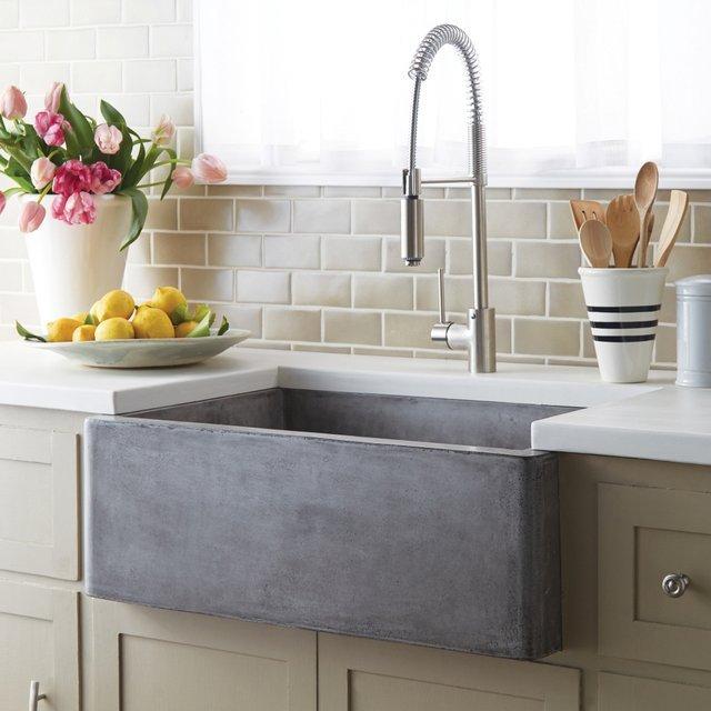 Concrete Farmhouse Sink