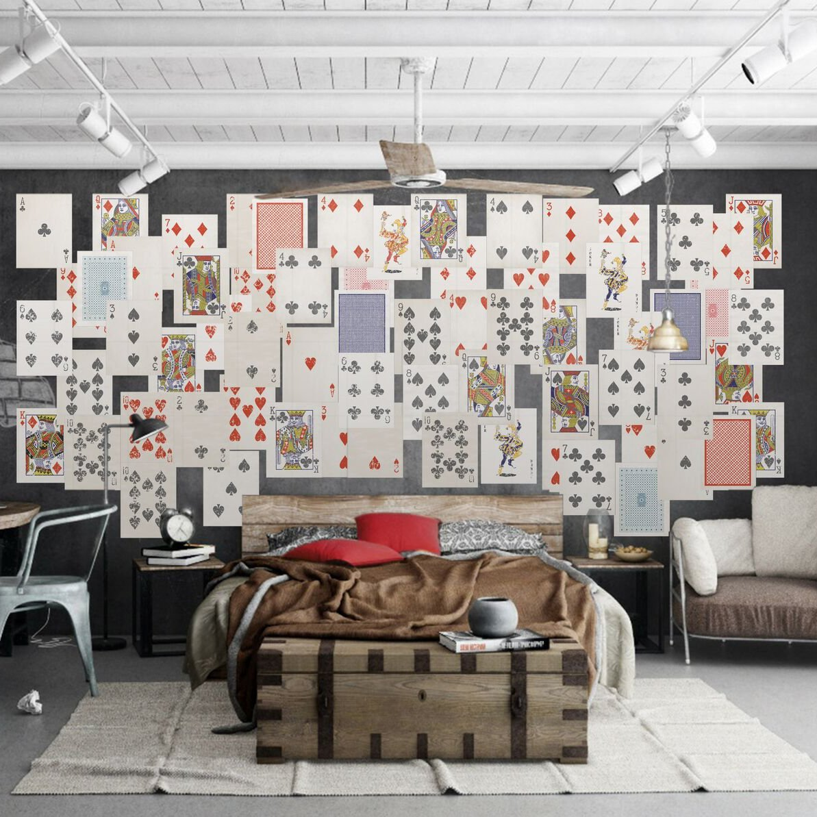 Ace Cards Collage Wall Mural