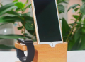 Wood iWatch Charger Holder & iPhone Holder