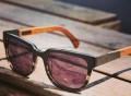 Prescott Black Titanium/Walnut Sunglasses by Shwood