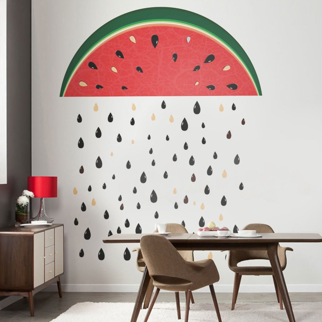 Watermelon Rain Repositionable Sticker