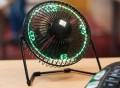 Desktop LED Clock Fan