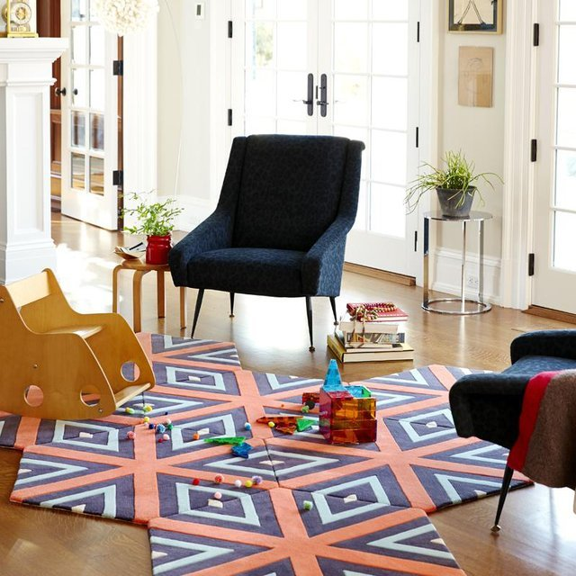 Cubist 7-Piece Hexagon Carpet