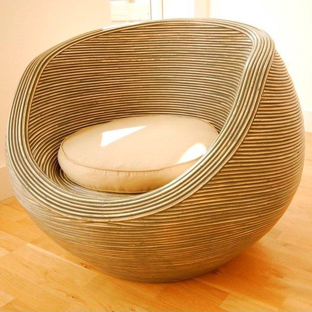 Ridge Rattan Tub Chair by Bluebone