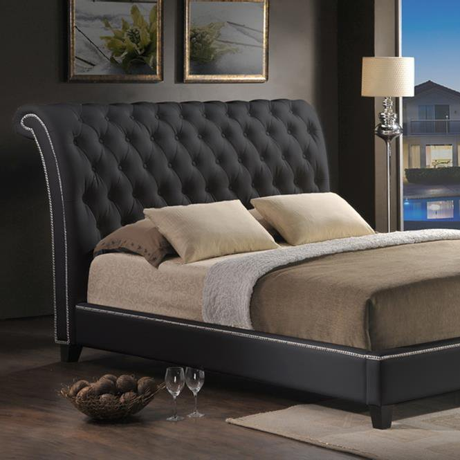 Jazmin Tufted Bed with Upholstered Headboard
