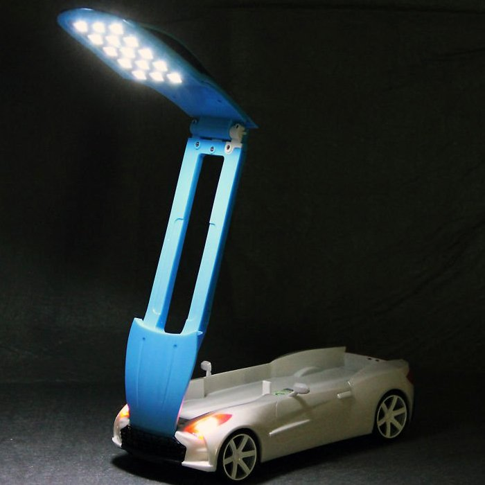 USB Car Shaped Folding Table Lamp