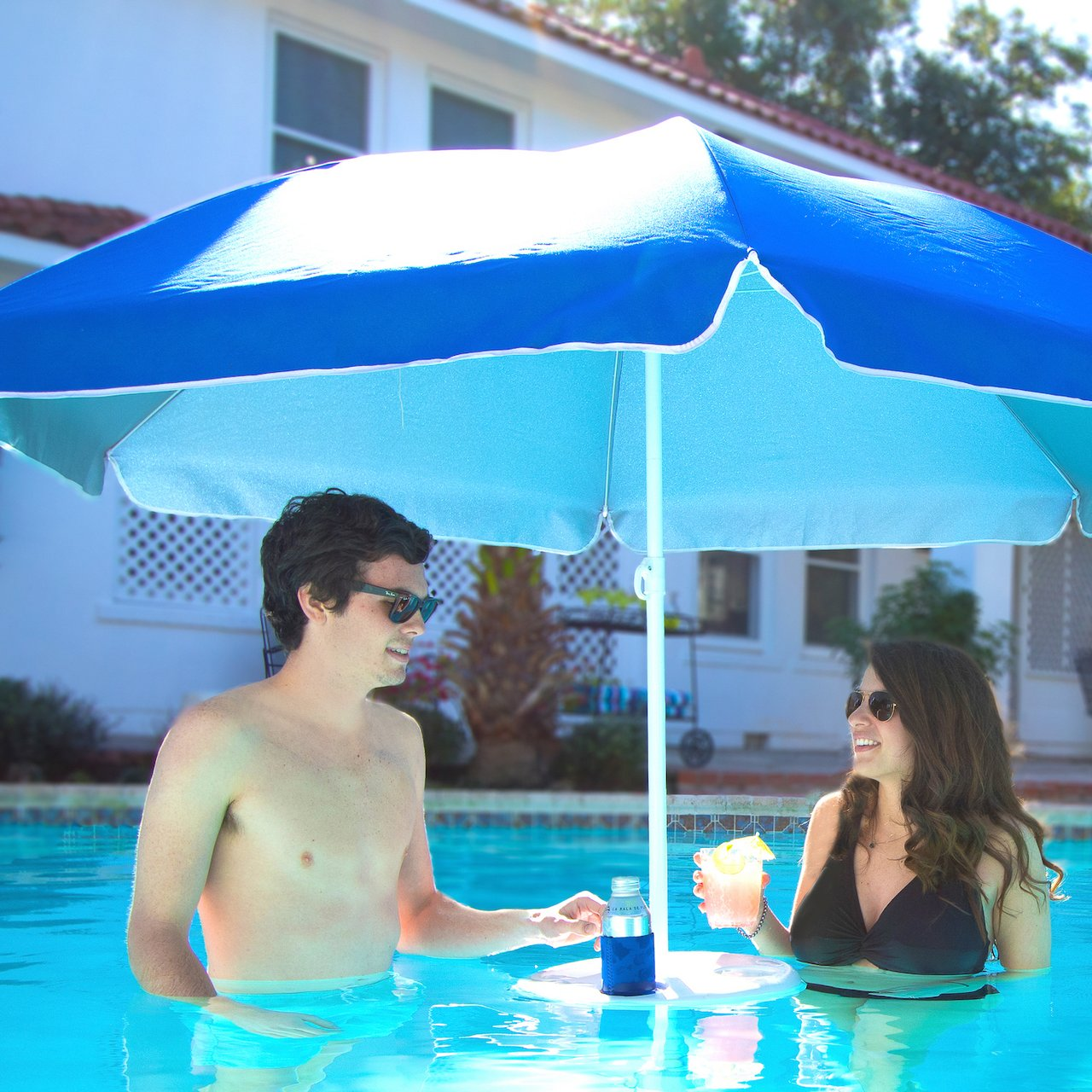 Floating Umbrella & Drink Holder