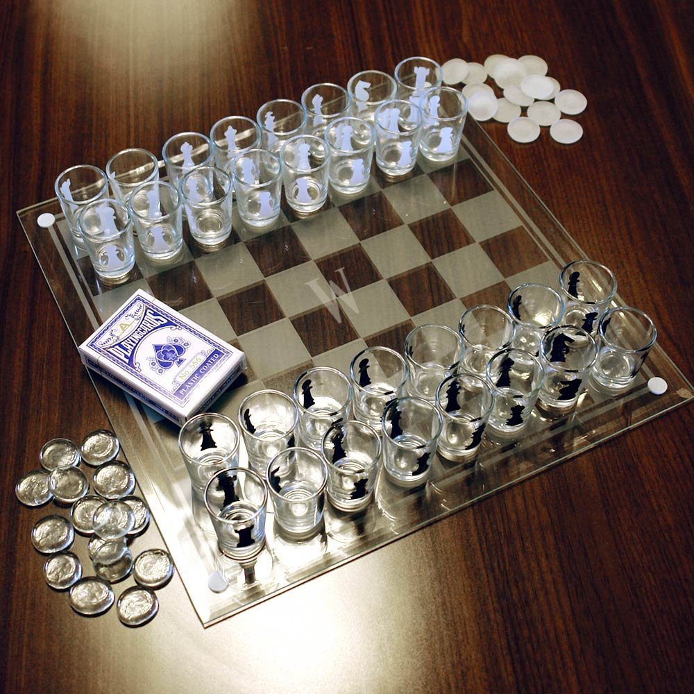 how to set up a glass chess board